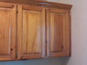 Cabinets before refinishing