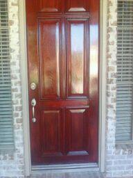 Door Refinished by DFW Painting