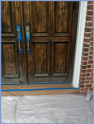Before - Front Door Refinished