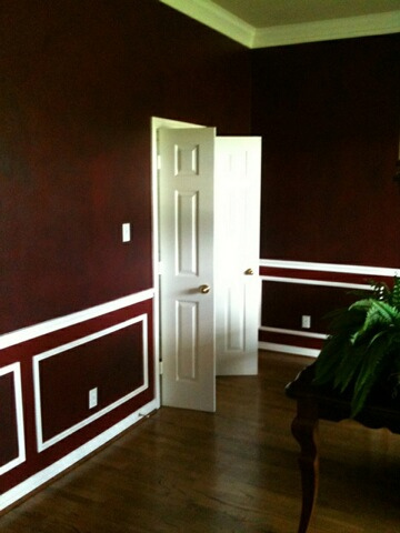 Interior Painting - Red Office