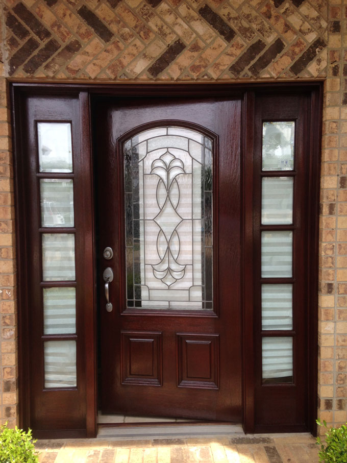 Door refinishing in Frisco
