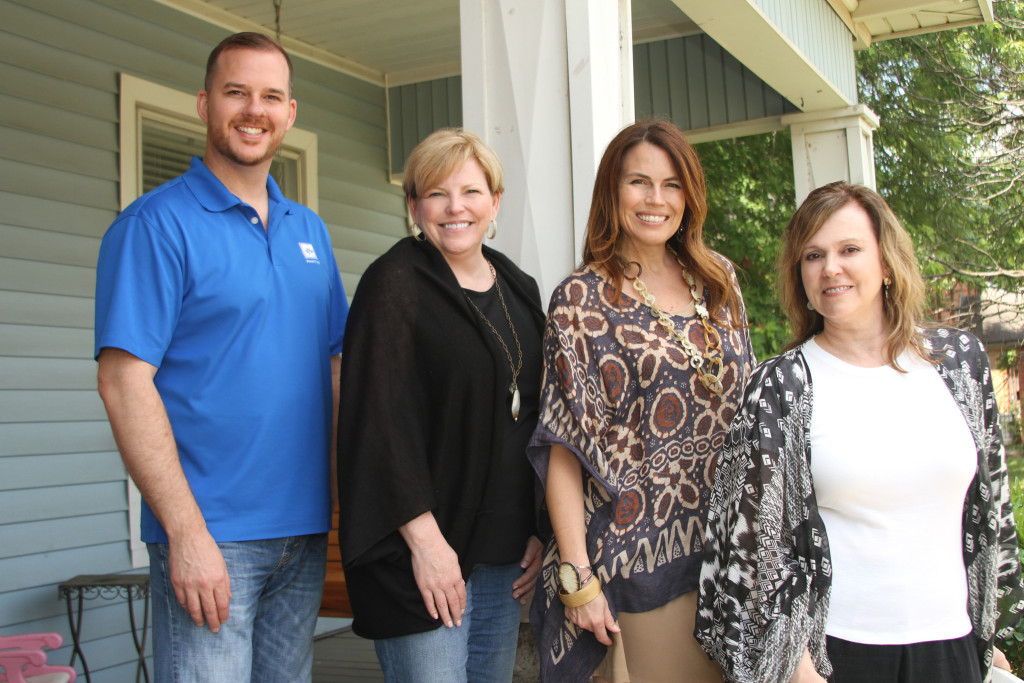 DFW Painting partners with Dwell with Dignity on the Wesley Inn Project.  Pictured Ken Bangs, Lisa Nelson, Lisa Robison and Kim Turner