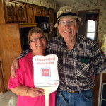 Norman and Beverly showing their support for the Go Red for Women Campaign