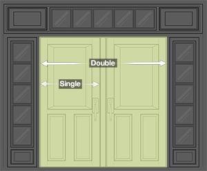 Single or Double Door