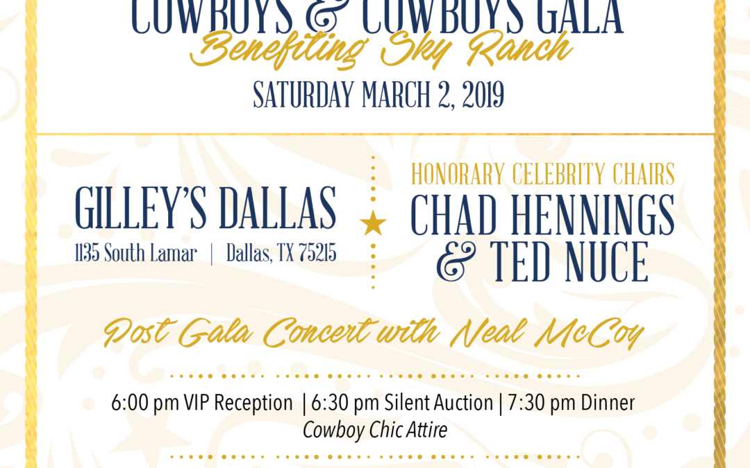 Painting with a Purpose – Sky Ranch's Annual Cowboys and Cowboys Gala