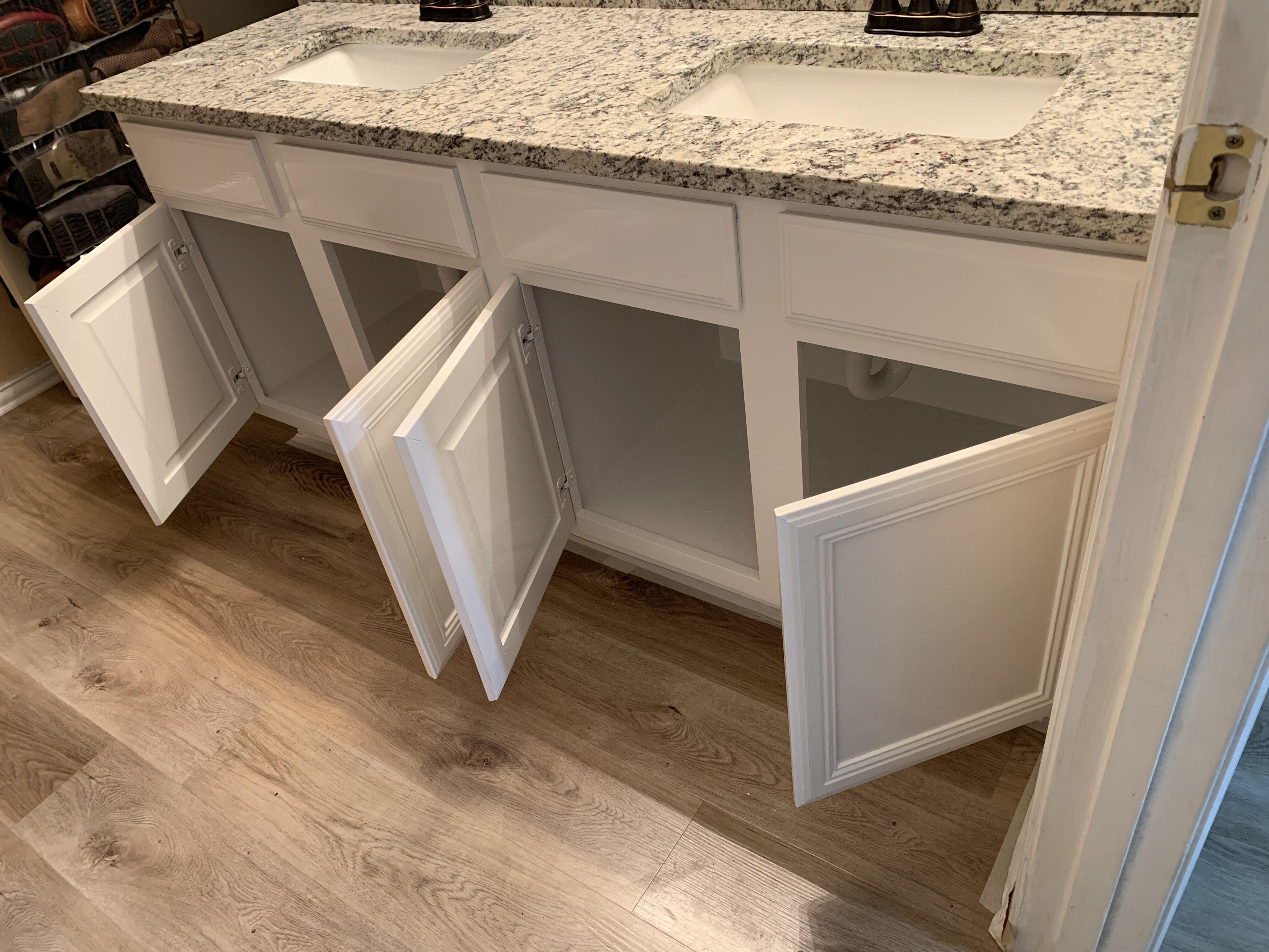Bathroom Vanity Before And After Update With Paint Dfw Painting Interior And Exterior Professional Painters In Dallas