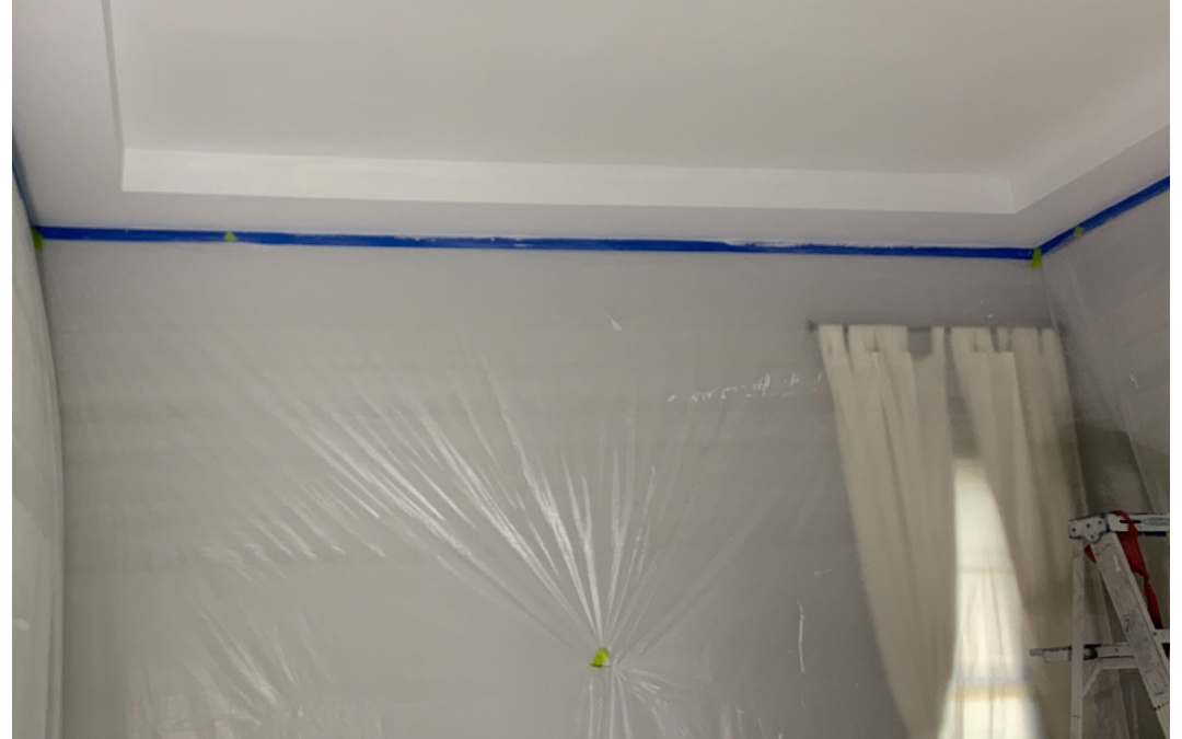 Popcorn ceiling removal before and after