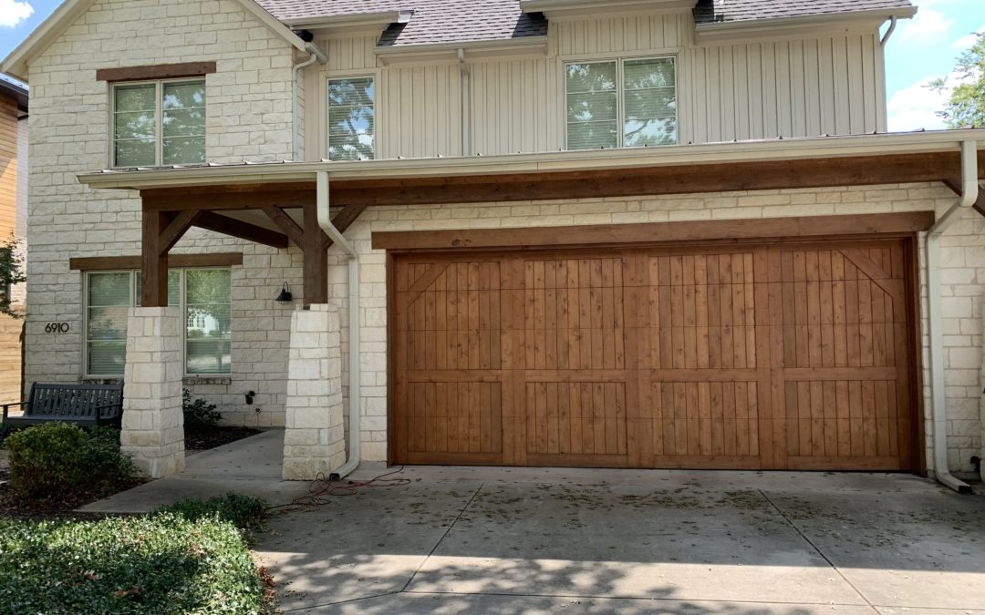 Exterior Staining – Fence and Garage Before and After