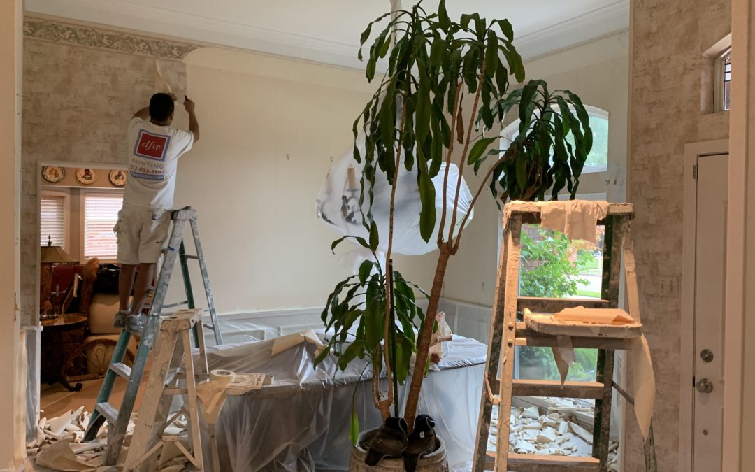 Wallpaper Removal Service by DFW Painting