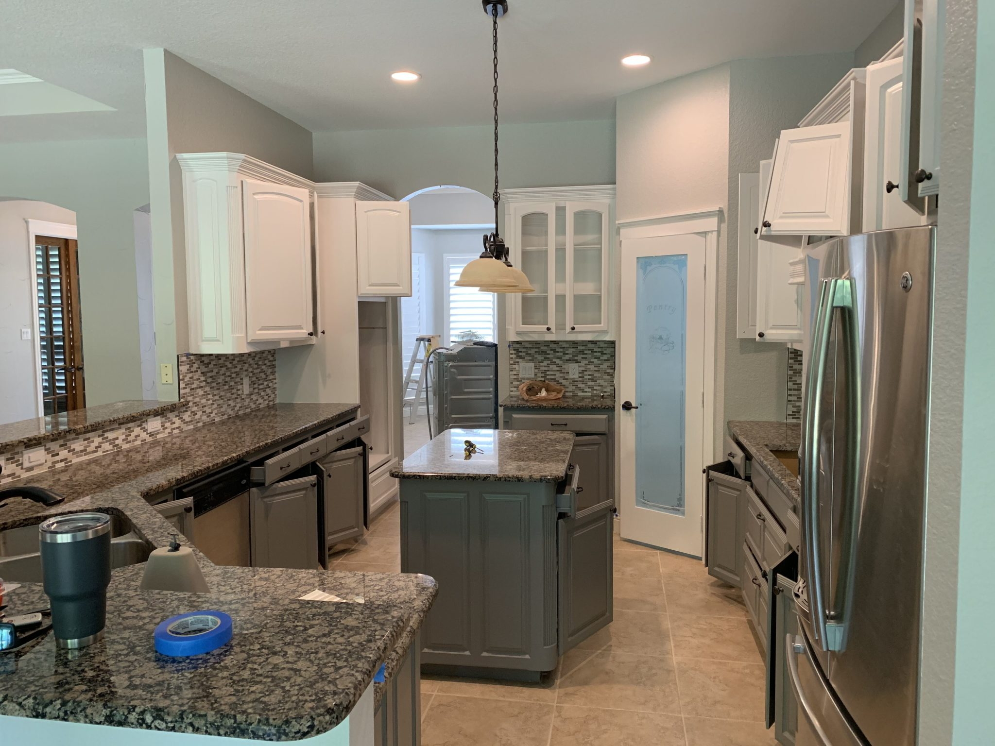 kitchen remodel with painted cabinets