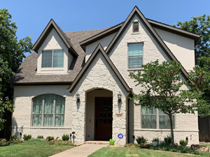 painted brick home in Dallas by DFW Painting